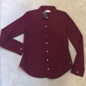 HOLLISTER Maroon Button-Up